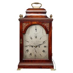 George III Mahogany Cased Bracket Clock by Christopher Bullock, London