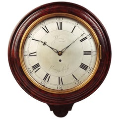 George III Mahogany Cased Wall Clock by John Leroux, Charing Cross, London