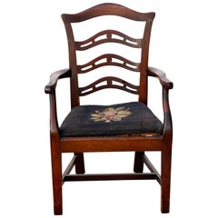 George III Mahogany Childs Armchair