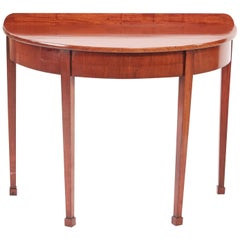George III Mahogany Demi-Lune Console Table