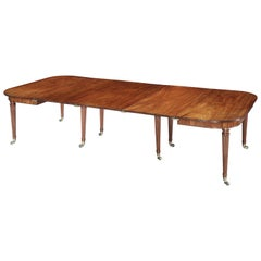 George III Mahogany Dining Table Attributed to Gillows