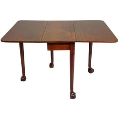 George III Mahogany Drop leaf Gate Leg Table