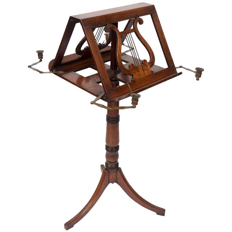 george iii mahogany duet music stand for sale at 1stdibs. Black Bedroom Furniture Sets. Home Design Ideas