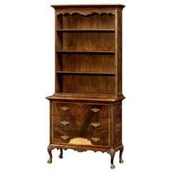 George III Mahogany Fan Inlaid Bookcase