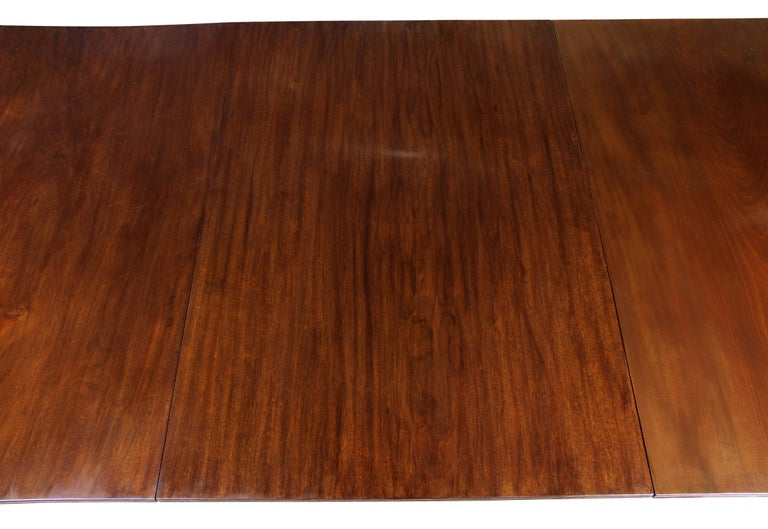 Late 18th Century George III Mahogany Four Pedestal Dining Table For Sale