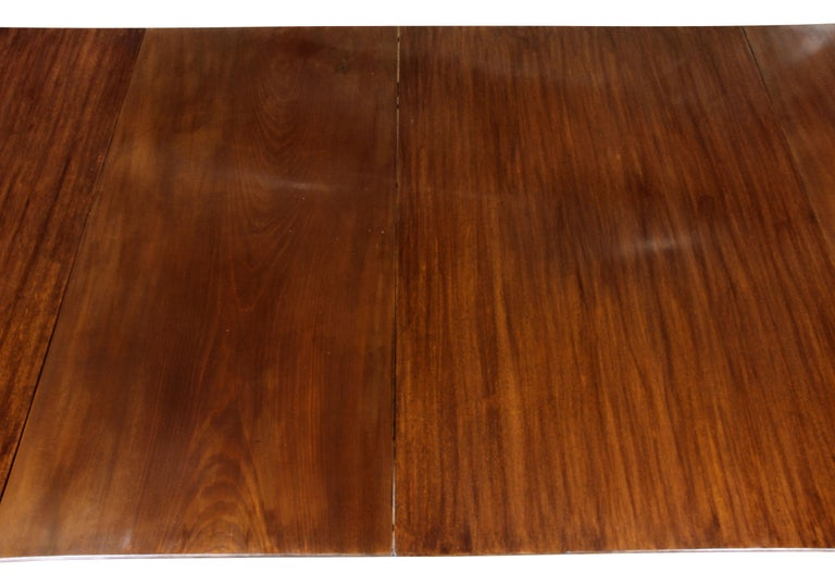 George III Mahogany Four Pedestal Dining Table For Sale 1