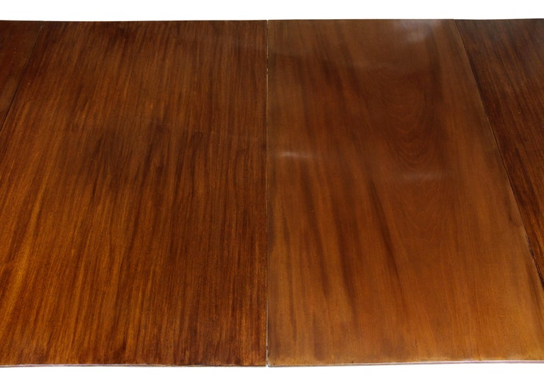 George III Mahogany Four Pedestal Dining Table For Sale 2