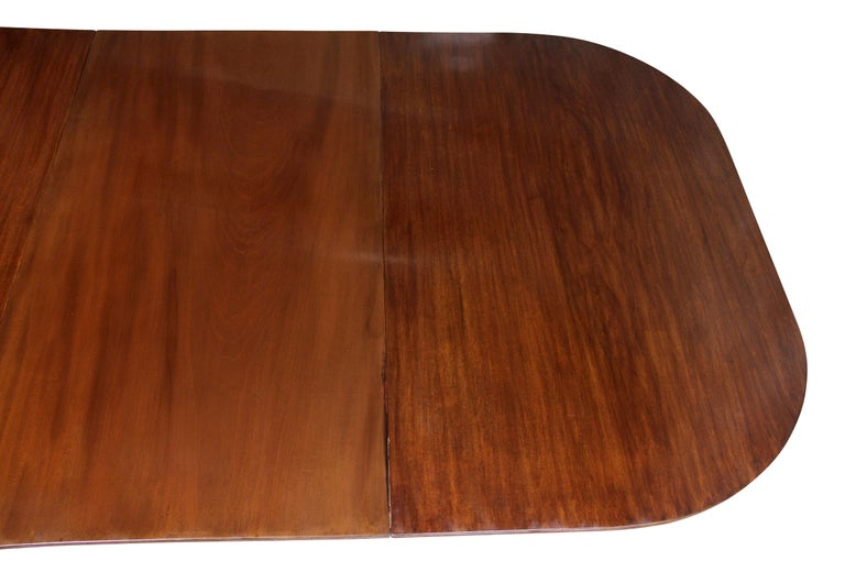 George III Mahogany Four Pedestal Dining Table For Sale 3