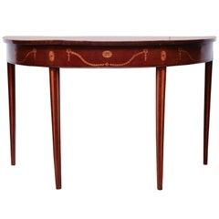 George III Mahogany Inlaid Console Table