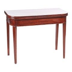 George III Mahogany Inlaid Tea Table