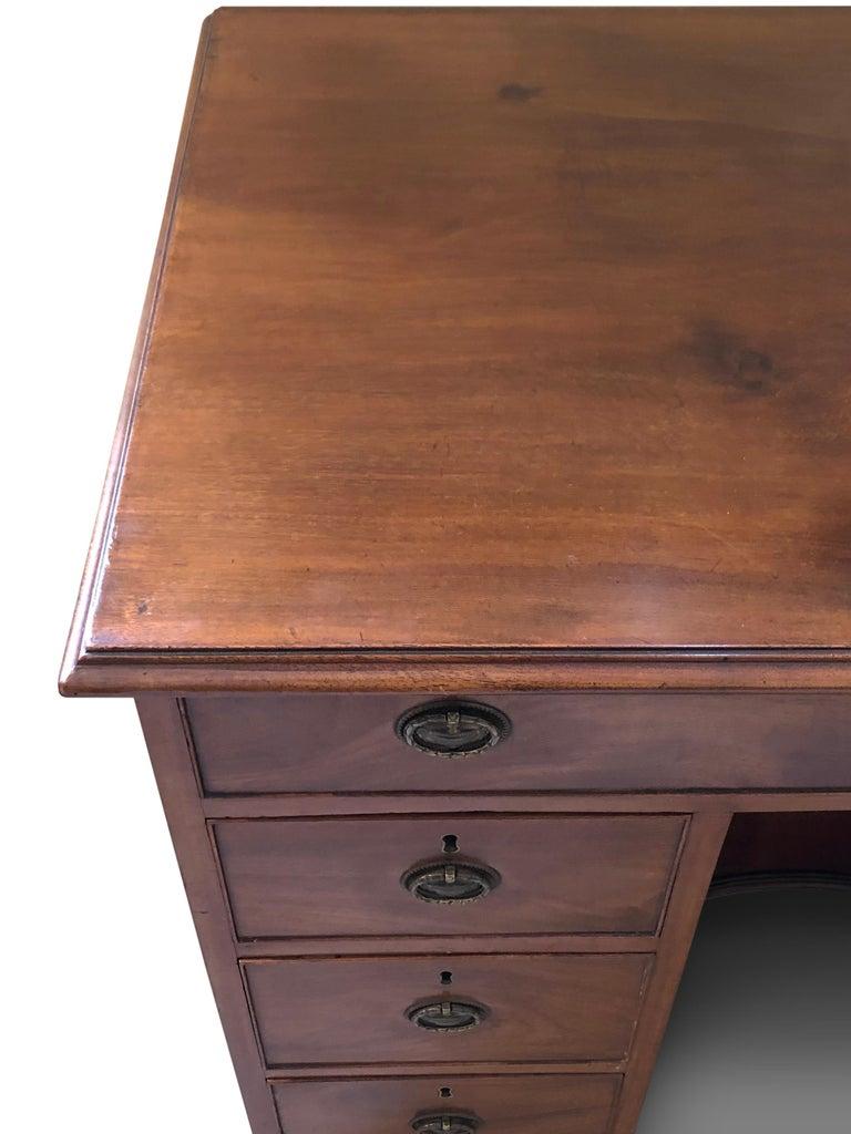Woodwork Kneehole Desk , Mahogany George III For Sale