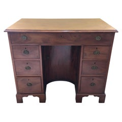 Kneehole Desk , Mahogany George III