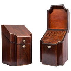 George III Mahogany Knife Boxes, 1760-1820