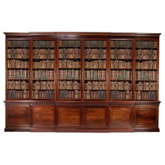 An Incredible and Stately George III Mahogany Library Bookcase, 18th Century