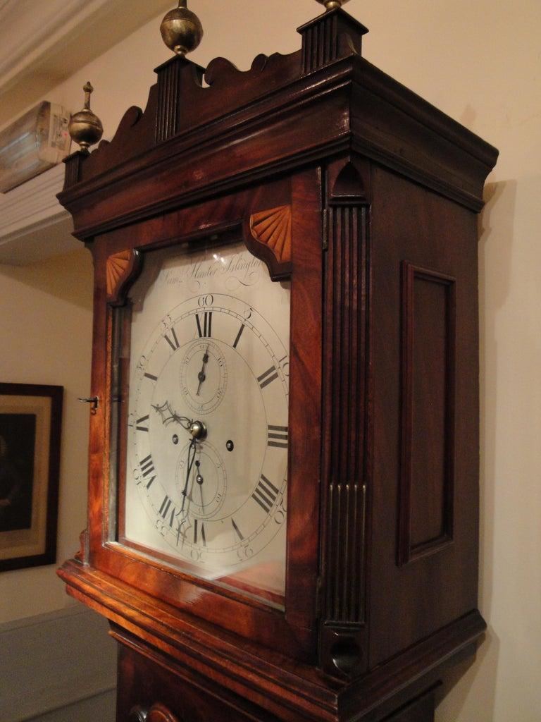 18th Century Antique George III Mahogany Longcase Clock by Samuel Hunter of Islington London For Sale