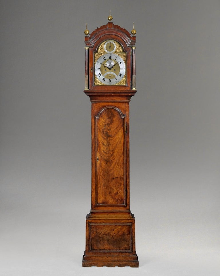 British George III Mahogany Long Case Clock by Thomas Gardner For Sale