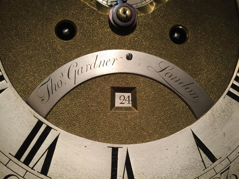 George III Mahogany Long Case Clock by Thomas Gardner In Good Condition For Sale In Devon, GB