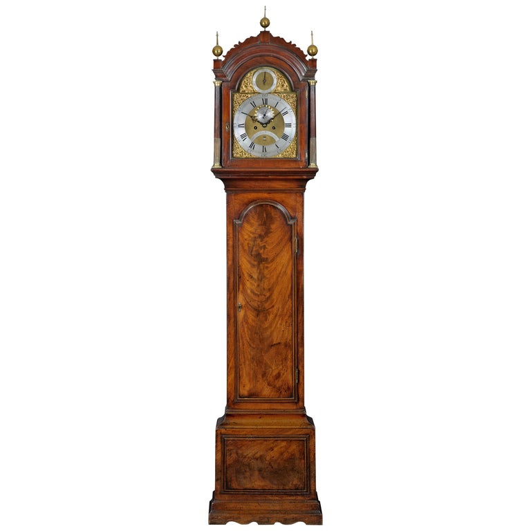 George III Mahogany Long Case Clock by Thomas Gardner For Sale