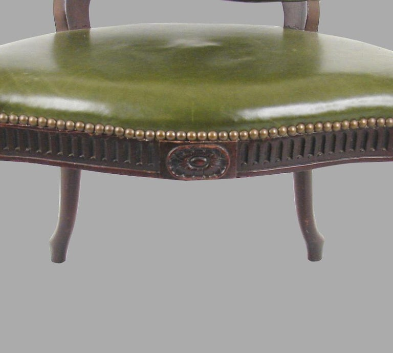 English George III Mahogany Open Armchair For Sale