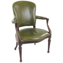 Offener Mahagoni Sessel im George-III-Stil