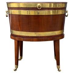 George III Mahogany Oval Cellarette