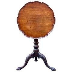 George III Mahogany Piecrust Top Tilt-Top Table