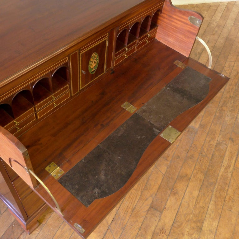 George III Mahogany Secretaire Chest For Sale 4