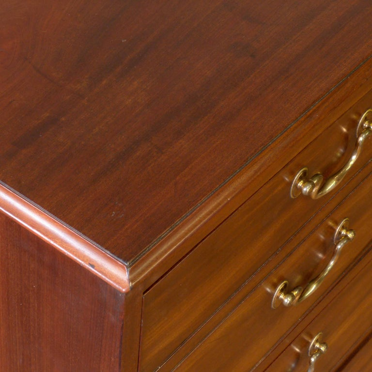 George III Mahogany Secretaire Chest For Sale 7