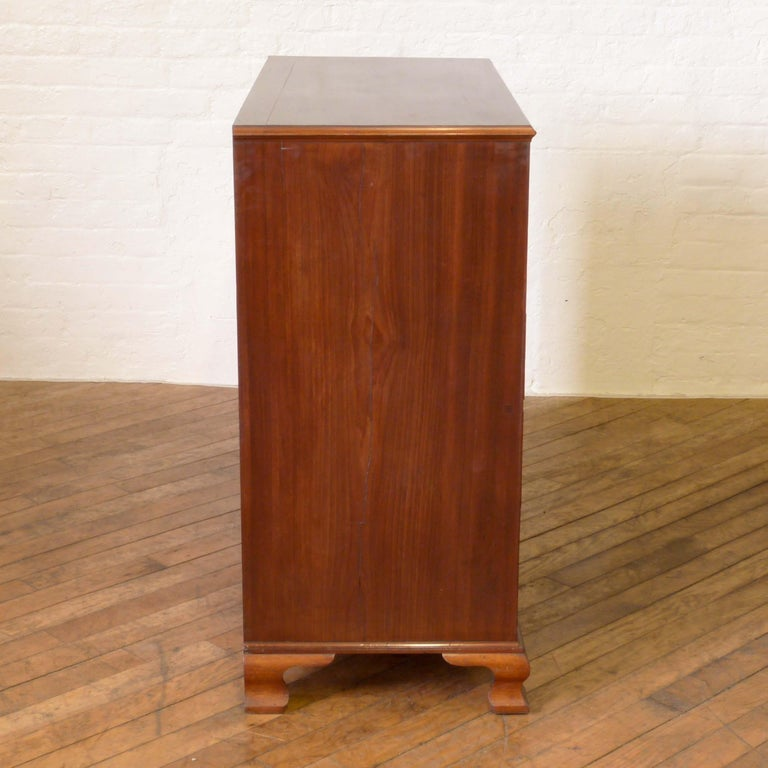 George III Mahogany Secretaire Chest For Sale 11