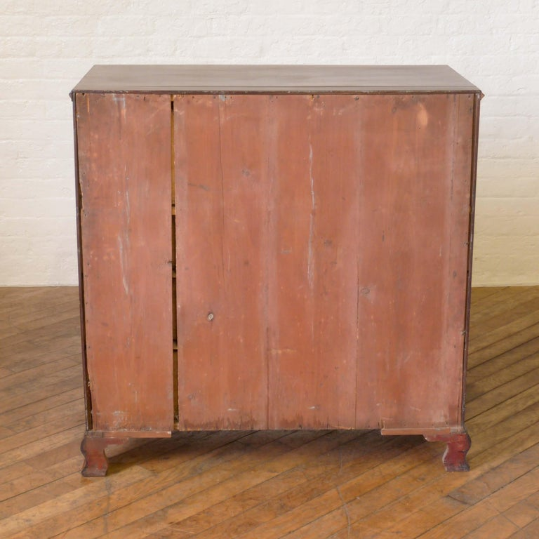 George III Mahogany Secretaire Chest For Sale 12