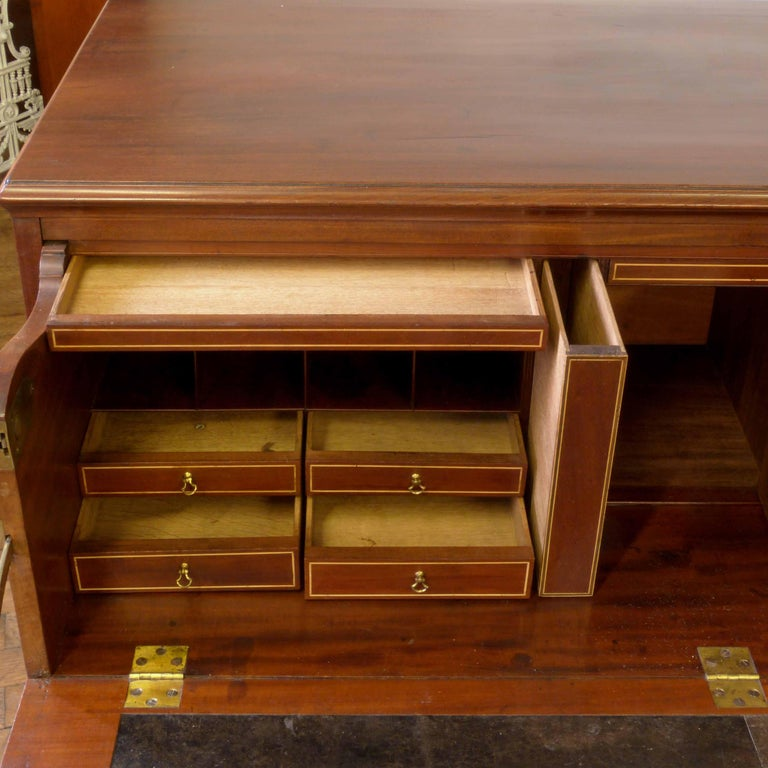 George III Mahogany Secretaire Chest For Sale 1
