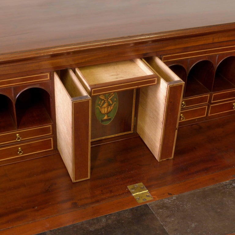George III Mahogany Secretaire Chest For Sale 2