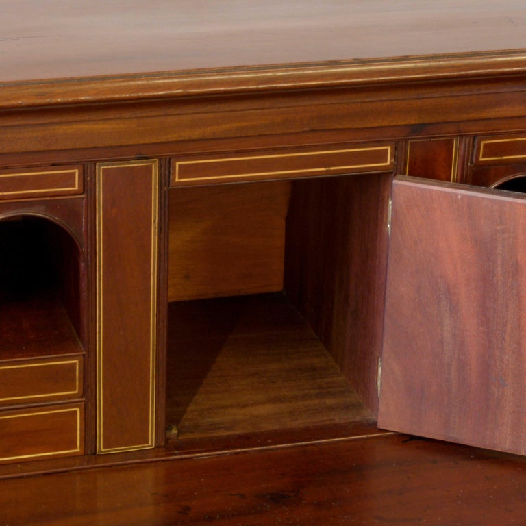 George III Mahogany Secretaire Chest For Sale 3