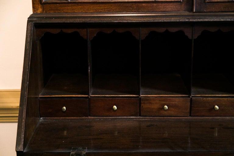 Mid-18th Century George III Mahogany Secretary For Sale