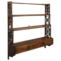 George III Mahogany Set of 'Chippendale' Hanging Wall Shelves
