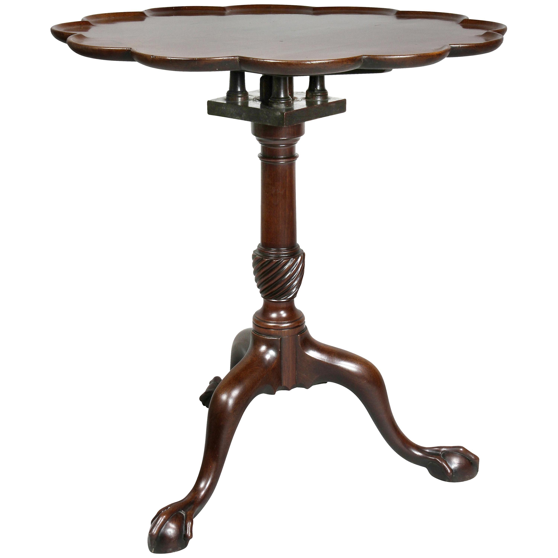 George III Mahogany Tilt-Top Table