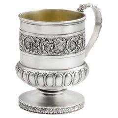 George III Mug Made in London in 1813 by Emes & Barnard