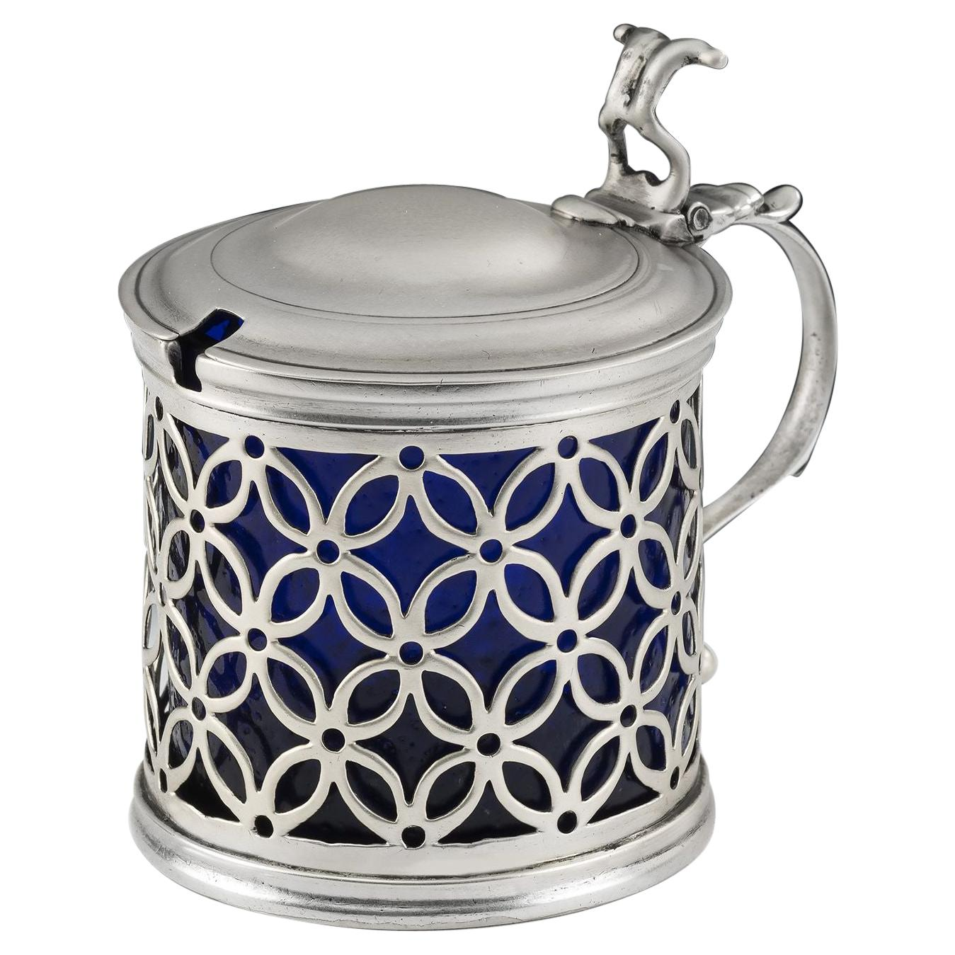 George III Mustard Pot Made in London in 1770 by Andrew Fogelberg