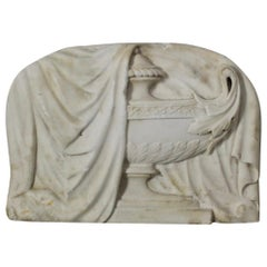 George III Neoclassical Carved Marble Tablet