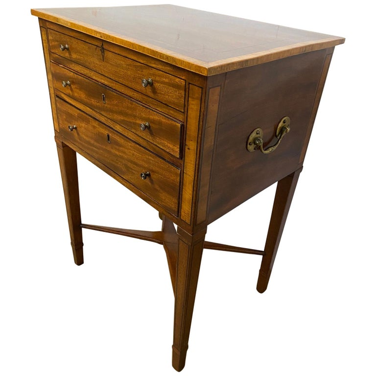 George III Night Table/Sewing Table c.1800 For Sale