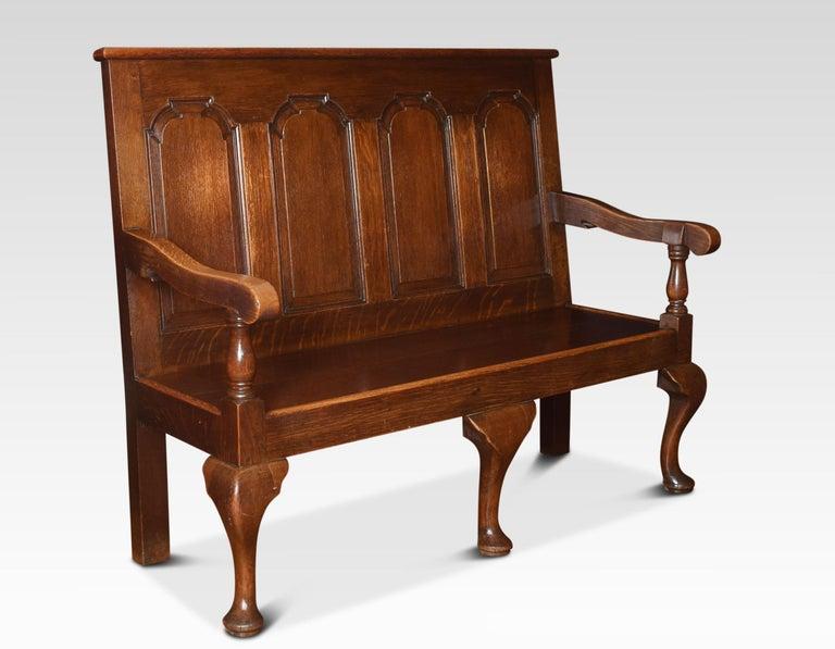 British George III Oak Bench Settle For Sale