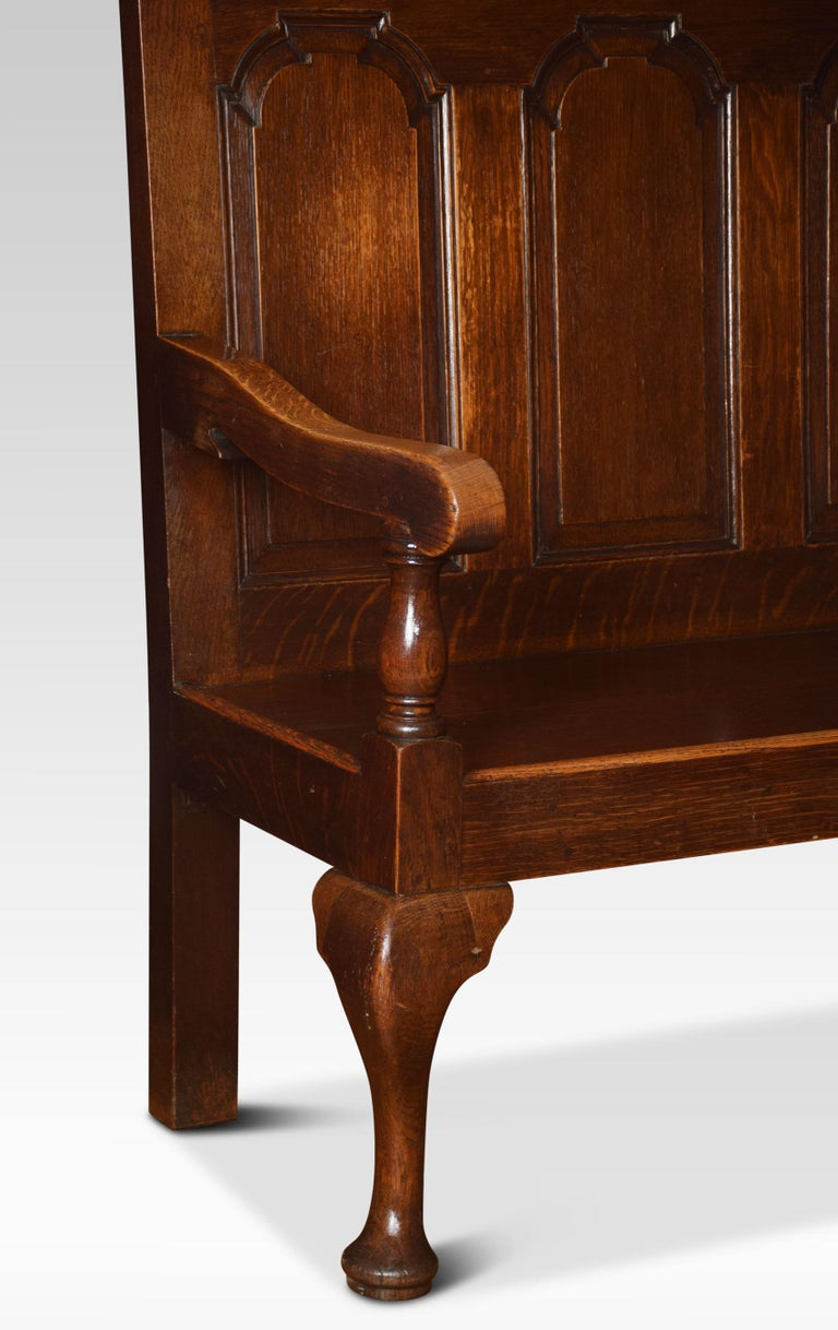 George III Oak Bench Settle In Good Condition For Sale In Cheshire, GB