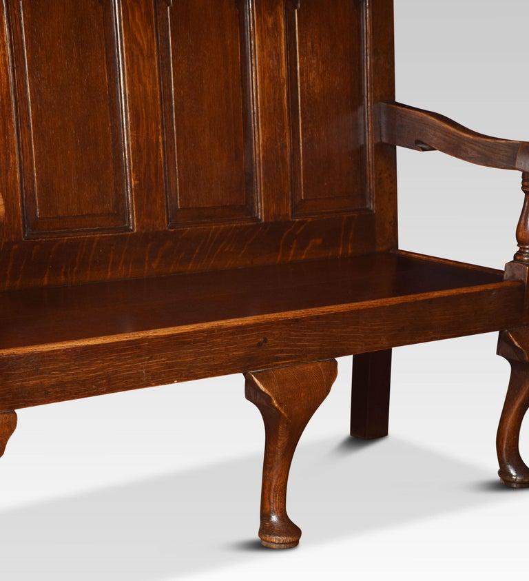 19th Century George III Oak Bench Settle For Sale
