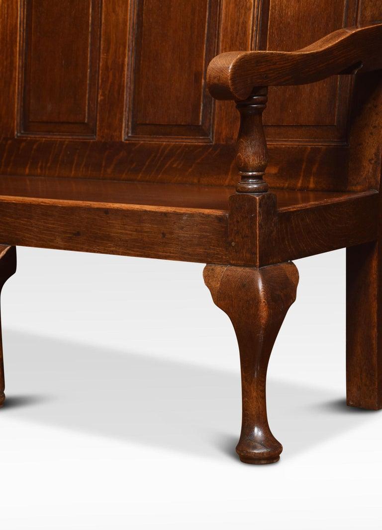George III Oak Bench Settle For Sale 3