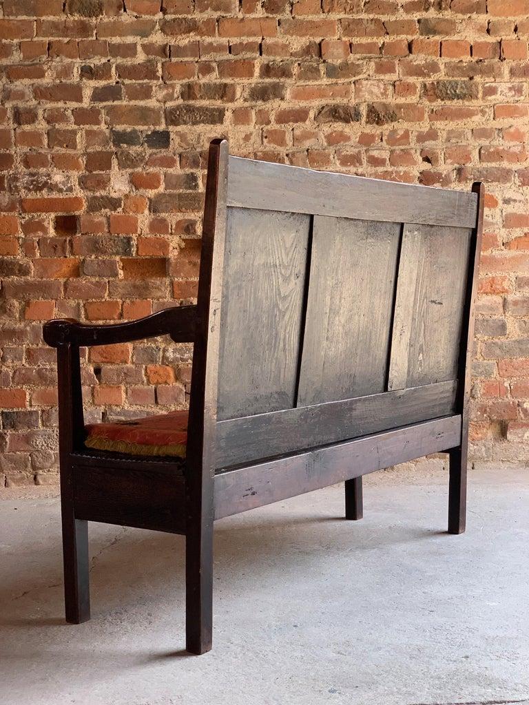 Miraculous George Iii Oak Bench Settle Small And Petit England Circa Beatyapartments Chair Design Images Beatyapartmentscom