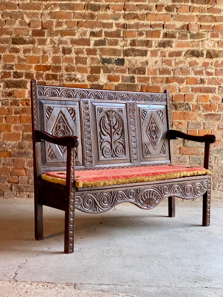 Pleasant George Iii Oak Bench Settle Small And Petit England Circa Beatyapartments Chair Design Images Beatyapartmentscom