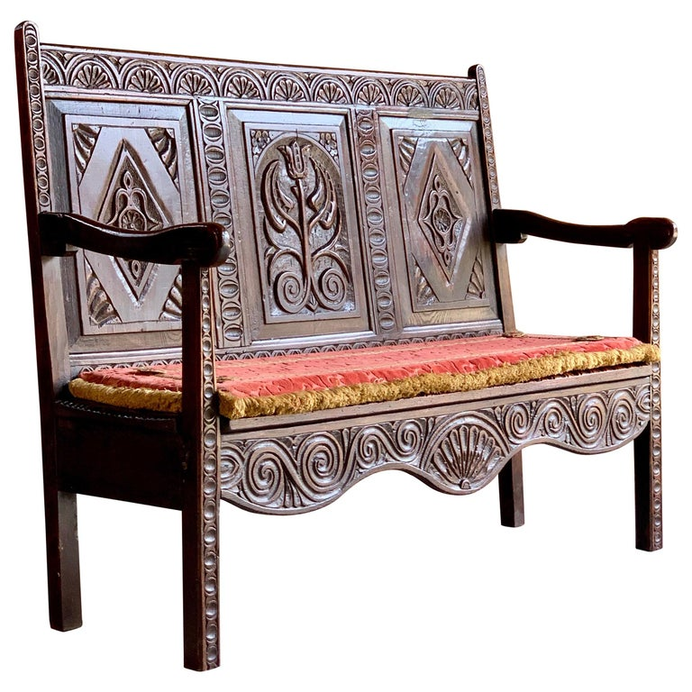 Strange George Iii Oak Bench Settle Small And Petit England Circa 1790 Beatyapartments Chair Design Images Beatyapartmentscom