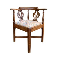 George III Oak Corner Chair, circa 1780