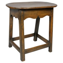 George III Oak Stool