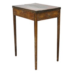George III Original Painted Pine Occasional / Card Table